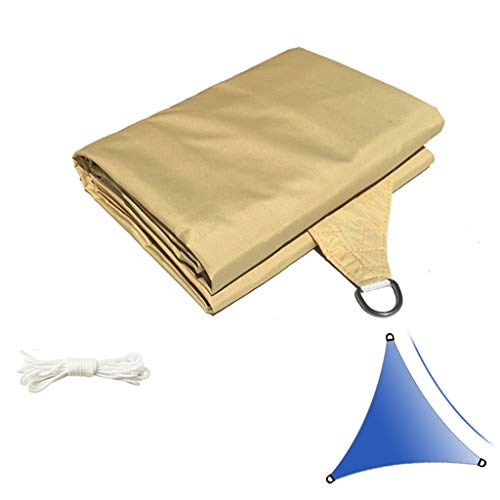 ZAQI Filet de Protection Filet ombrage Filet Potager Triangle Shade Sail, UV Block Sun Imperméable, Parfait for Le Jardin extérieur Patio, Beige