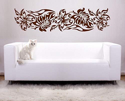 hetingyue muurstickers, abstract, bloemen, afneembaar, decoratie voor huis, woonkamer, tv, vinyl, hoogwaardig