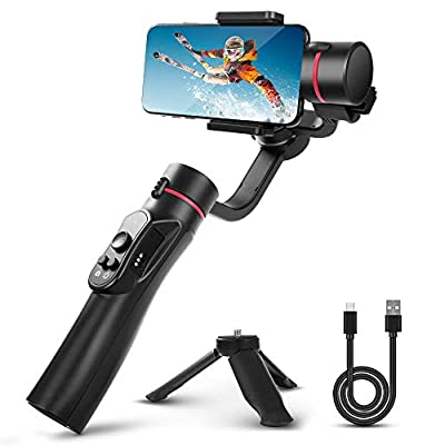 3-Axis Gimbal Handheld Stabilizer with Tripod Support for Smartphone iPhone Camera Anti-Shake Handle Stick Gyro for Selfie Vlog Youtuber Live Video Recording from TYCKA