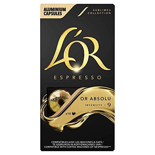 L'Or Espresso Café - 100 Capsules Or Absolu Intensité 9 - compatibles Nespresso®* (lot de 10 x 10)