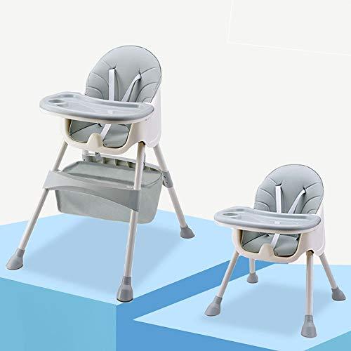 Trona para Bebé y Niños Pequeños con Bandeja de Desmontaje,Cinturón de Seguridad de 5 Puntos-Trona Ajustable en Altura de 6 Meses a 4 Años