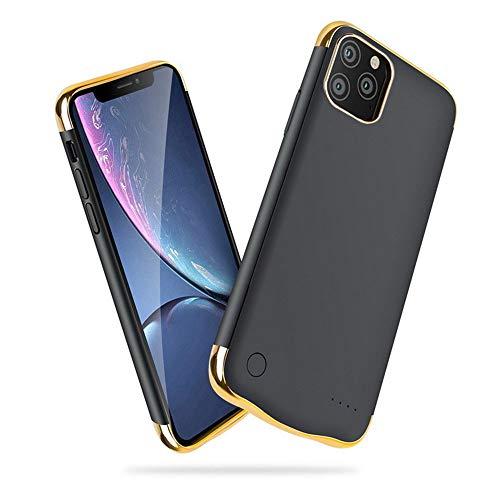 HQXHB Custodia con batteria per iPhone 11 Pro [5500 mAh] ricaricabile, con batteria estesa, custodia protettiva con batteria esterna portatile da 5,8'' - Nero