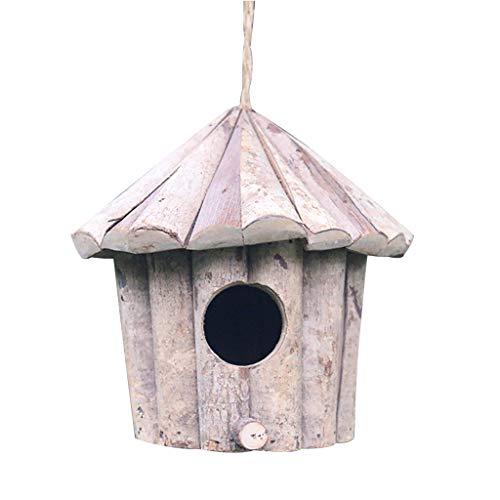 luosh Handgemaakte Houten Vogelhuisjes Nesting Box Ronde Vogelhuisje Ambachten Effen Hout Antiseptische Vogels Nest