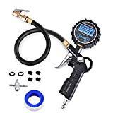 HAUSBELL Digital Tire Pressure Gauge, 250 PSI Air Pressure Gauge Professionally Calibrated to Accuracy of 0.1, Built of Heavy Duty Steel and Brass Components, for Car, SUV, RV, Truck, Motorcycle, etc.
