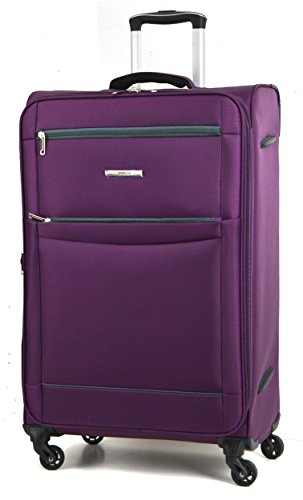 DK Luggage Starlite Lightweight WLS08 Medium 24' Suitcases 4 Wheel Spinner Purple