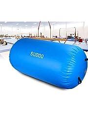 Triclicks Uppblåsbar luftrulle, 3 storlekar Air Roller Air Barrel uppblåsbara luftrullar användbar gymnastikmatta fitness träningsvals för hemmabruk och fitness-dyna