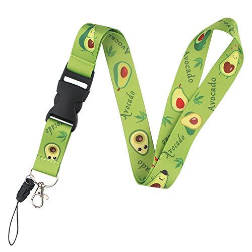 "Avocado Badge Lanyard with ID Holder, Key Lanyard, Phone Lanyard, Cute Premium Quality Metal Clasp Wide Lanyard for ID Badge (1'-20.27"") (Avocado)"