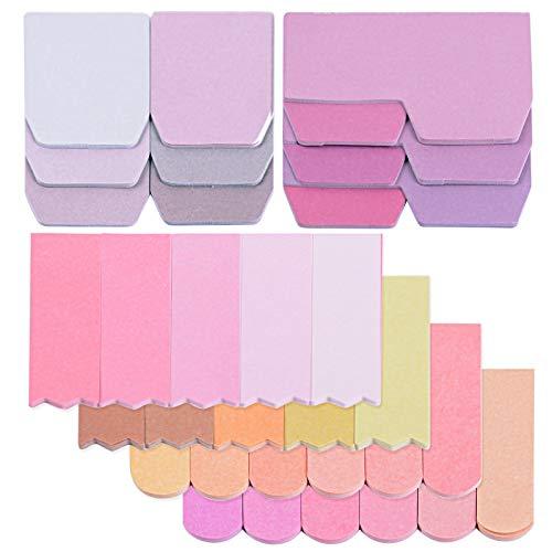 560 Marcadores Adhesivos Notas Autoadhesivas Indices de Página Colores Etiquetas de Escribir para Marcar Hojas Informes Libros