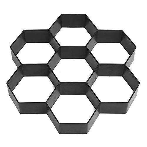 Chemin Maker Moule, Bricolage Ciment Réutilisable Forme de Béton, Trottoirs en Pierre Conception Pavé Jardin Patio Allée Décor Chemin, Pavé Pathmate Pavage Moule (29 * 28 * 4.4 cm)
