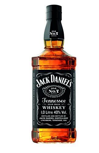 Jack Daniel's Old No.7 Tennessee Whiskey - 40% Vol. (1 x 1.0 l) / Durch Holzkohle gefiltert. Tropfen für Tropfen