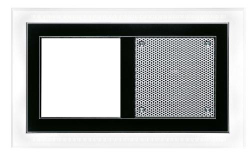Friedland audiopoint - Marco negro brillante para 2 módulo led blanco