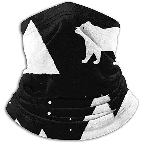 Bklzzjc Polar White Bears und Füchse mit Triangel-Halswärmer - Halsgamasche, Ohrenwärmer-Stirnband und Gesichtsmaske.