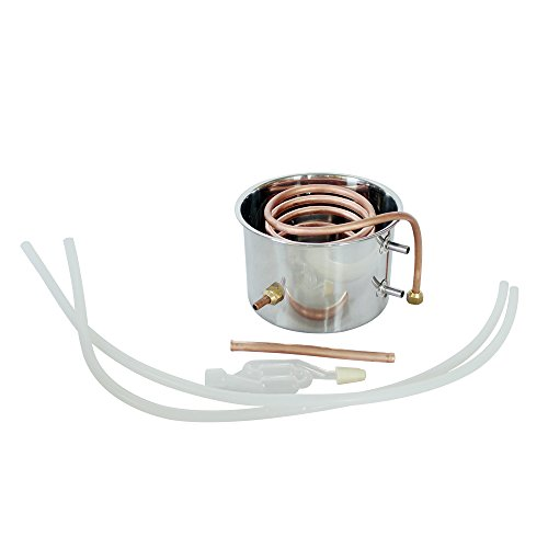 ECO-WORTHY 5 Gal 20 L Moonshine Still Spirits Kit Water Alcohol Distiller Copper Tube Boiler Home Brewing Kit