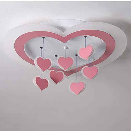 MGWA Creativa De La Sala Dormitorio Amor Techo De La Forma LED De Luz Sin Escalonamiento Atenuación Inicio Moda Restaurante Hotel Decoración De La Lámpara Colgante (57 * 57 * 5cm) lámpara de Techo