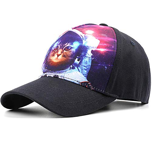 Astronaut Cat Hats for Women, Adjustable Baseball Cap for Space Cat - Best Gifts for Girl & Women