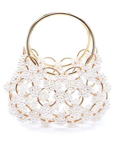 Miuco Women Pearl Handbag Crossbody Wedding Top-Handle Bag Evening bags and clutches