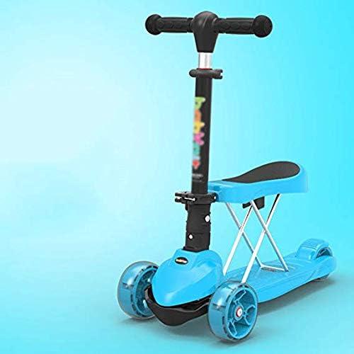 barato TYXHZL Scooter Scooter Scooter al Aire Libre con Seat Scooter para Niños de Altura Regulable Aleación de Aluminio Baby Luxury Riding Treadmill PU Rueda Duradera, Adecuado para Niños de 2-6 años,B  mejor servicio