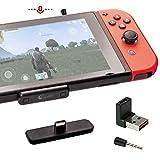 対応Nintendo Switch / Switch Lite PS4 Macbook PC用 GuliKit Route Air Pro Bluetoothアダプター マイク付き フォートナイトのボイスチャット aptX低遅延 無線 BTH オーディオ レシーバー トランスミッターワイヤレス、Bluetoothイヤホン、ヘッドホンに接続する