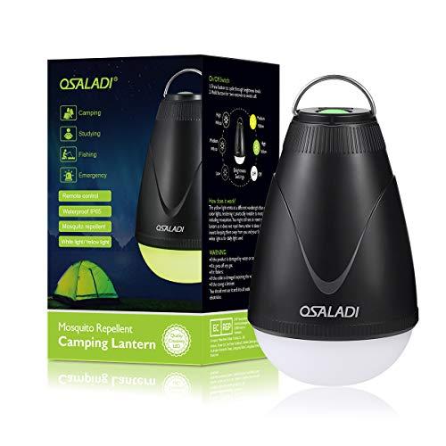 OSALADI 2-in-1 Camping Laterne Bug Zapper Zelt Licht, wasserdicht USB wiederaufladbare LED-Lampe mit Mückenschutz Gelbes Licht Option Beleuchtung für Camping Outdoor Indoor Notfälle