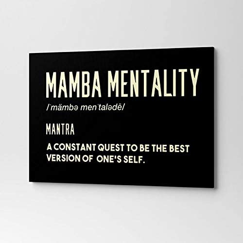 Canvas Kobe Nippon regular agency Bryant Motivation Quote Background Wall outlet Plain Black