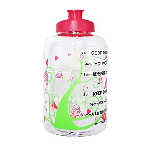 DDDCM Boca Ancha plástica Botellas de Agua Potable Grande 2.5L Jarra Deportiva Gimnasio Turismo Gimnasio Viaje (Capacity : 2500ML 2.5L 73oz, Color : Love Tree Bottle)