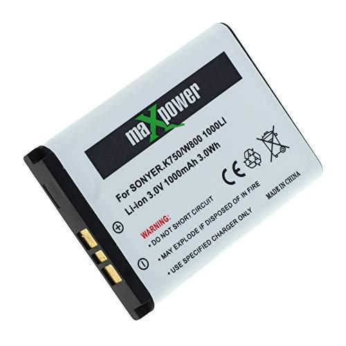 Mobilfunk Krause - Akku MaxPower für Sony Ericsson W810i 1000mAh Li-Ionen (BST-37)