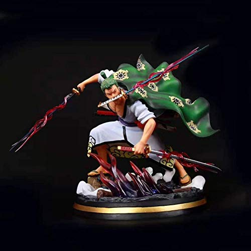N / A One Piece Zoro Manga Figurine Action 50cm Statue Anime Gift Collection