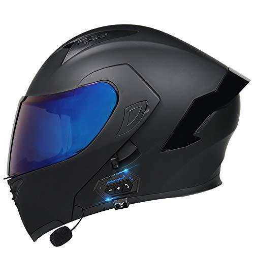 HHHKKK Casco Moto Modular Bluetooth Integral con Doble Visera Torque, para Motocicleta Scooter, ECE Homologado con Micrófono para Respuesta Automática