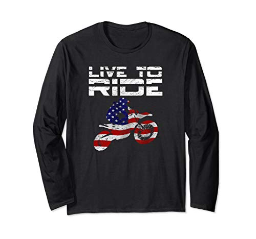 Live To Ride Dirt Bikes T-Shirt Motorcycle Rider Tee Gift