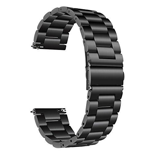 TRUMiRR per Samsung Galaxy Watch 42mm Cinturino, 20mm Cinturino in Acciaio Inossidabile Solido Cinturino Cinturino da Polso per Galaxy Watch 42mm R810 R815 / Gear Sport/Samsung Galaxy Watch3 41mm