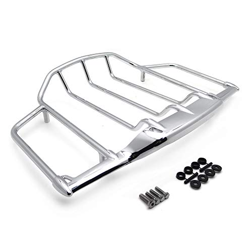 HTTMT MT502-008-CD Chrome Luggage Rack Trail Compatible with Harley Air Wing Tour Pak Trunk Pack 1993-2013 Harley Electra Street Glide