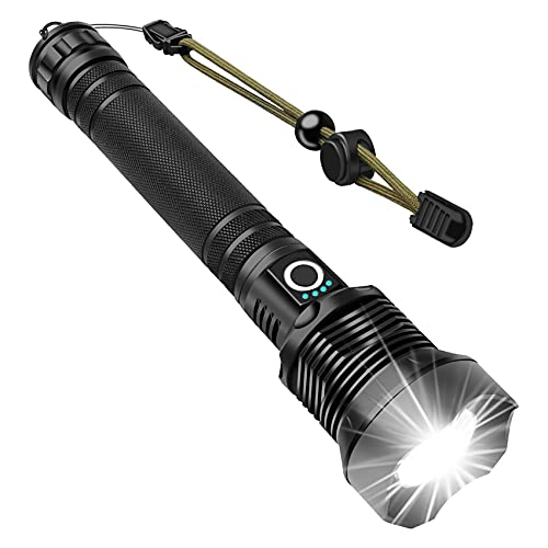 Rechargeable LED Flashlights, Lytoybe LED Tactical Flashlight, XHP70.2 90000 High Lumens Flashlight, Super Bright, IPX5 Water Resistant, Zoomable, 26650 Batteries,3 Modes, for Survival, Emergency