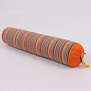 YYBF Almohada de Trigo sarraceno Gruesa de Rayas Almohada de Trigo sarraceno Caramelo Caramelo Caramelo Almohada cilíndrica se Puede Desmontar 1 jin Naranja