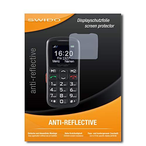 SWIDO Bildschirmschutz für Simvalley Mobile XL-915 V3 [4 Stück] Anti-Reflex MATT Entspiegelnd, Hoher Festigkeitgrad, Schutz vor Kratzer/Glasfolie, Schutzfolie, Bildschirmschutzfolie, Panzerglas Folie