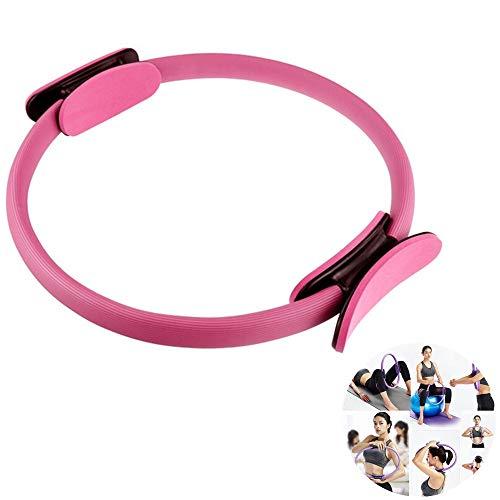 Fitness Pilates Ring Magic Circle, esercizio e fitness Yoga Wheel Allenamento Circle, ginnastica / aerobica / palestra Fitness Circle, per dimagrire il corpo tonificante per bruciare i grassi (Rosa)
