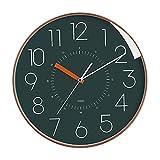 3190 Creativo Reloj de Pared, silencioso sin tictac, Azul Redondo de 12 Pulgadas, Moderno Simple, Alimentado por batería, Adecuado para la Familia de la Sala de Estar. Regalo