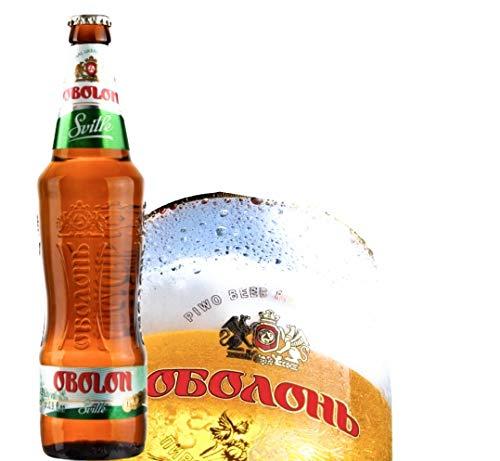 8 Flaschen Obolon Svitle Lager Bier hell 0,5l original Import aus der Ukraine