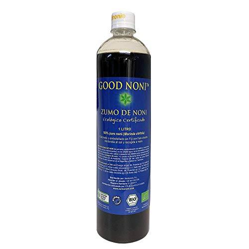 Zumo de Noni - 1 Litro. 100% Puro y Orgánico sin conservantes - BIO.