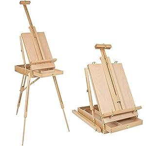 Art Supplies caja de almacenamiento para pintura, caballete de mesa de madera para dibujar y dibujar estudiantes