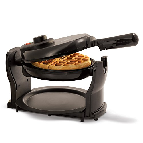 BELLA (13591) Classic Rotating Non-Stick Belgian Waffle Maker with Removeable Drip...