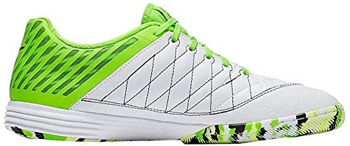 Nike Lunar Gato II IC, Scarpe da Calcio Uomo, Multicolore (White/Anthracite-Electric Green 137), 42.5 EU