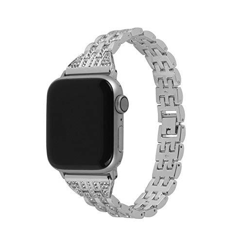 Wilbur Alta Calidad Compatible con bandas Apple Watch de 38 mm, 40 mm, 42 mm, 44 mm, correa de repuesto Creative Diamond, compatible con Iwatch Series 5/4/3/2/1 Anti-sudor Y Durable