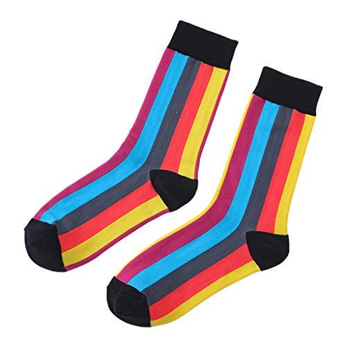 WDFVGEE Calcetines largos para mujer, diseño de rayas verticales, estilo hip hop, para monopatín, calcetines deportivos