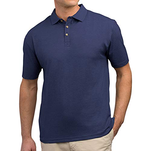 SCOTTeVEST Men's Bamboo Polo Shirt | 3 Concealed Pockets | Anti-Pickpocket Navy