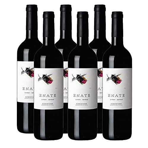 Vino Tinto Enate Syrah-Shiraz de 75 cl - D.O. Somontano - Bodegas Enate (Pack de 6 botellas)
