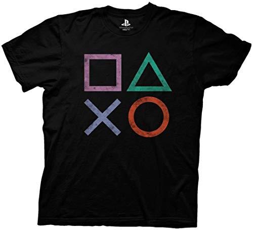 Ripple Junction Playstation Vintage Icon Adult T-Shirt Medium Black