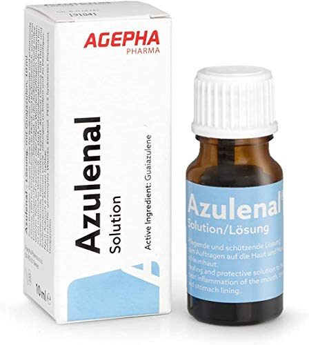 Azulenal Lösung Pflanzliche Behandlung von Entzündungen von Mundschleimhaut, Magen - Darm und als Rollkur, Antibakteriell, Entzündungshemmend