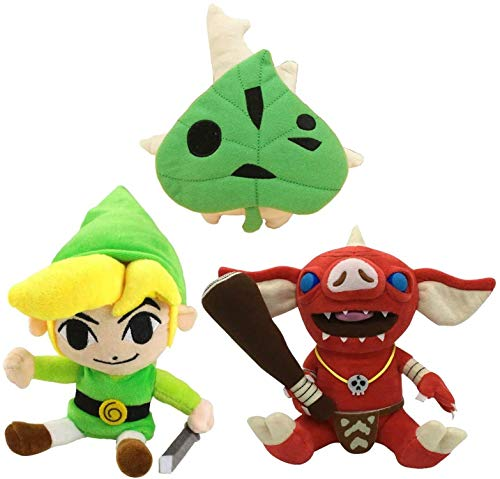 Juego de 3 muñecos de Peluche The Legend of Zelda Bokoblin Link, muñecos de Peluche Suaves para Regalo de niños