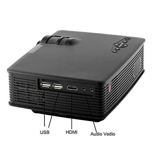 QAWACHH® LED HD WiFi Projector Lumens-1200 Home Theater Cinema Video (Black)