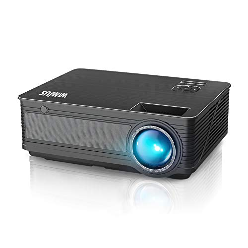 "Projector, WiMiUS P18 Upgraded 6200 Lumens LED Movie Projector 1080P Full HD Support 200"" Display Compatible with Amazon Fire TV Stick Laptop iPhone Android Phone Xbox PS4 Via HDMI USB VGA AV Black"
